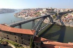 bro eiffel porto portugal Arkivfoto