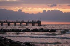Bro för baltiskt hav arkivfoton