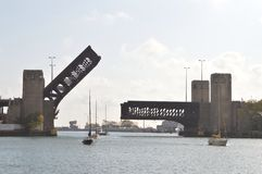 Bro för bro för sjökustdrev Royaltyfri Foto