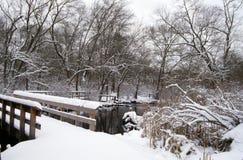 Bro för Bunce ` s, Suffolk County, NY fotografering för bildbyråer