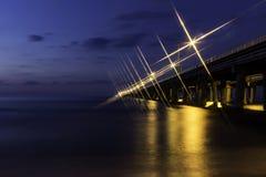 Bro för Chesapeakefjärd Royaltyfria Bilder