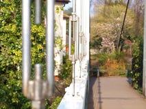 Bro för Exeter kajupphängning Arkivfoto