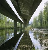 Bro för huvudväg A3 Aare för schweizisk kanton för Aargau rapport Fotografering för Bildbyråer