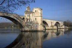 Bro för St Benezet, Avignon royaltyfria foton