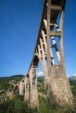 Bro för Tara betongbåge i bergen Royaltyfri Fotografi