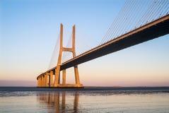 Bro för Vasco da Gama ` s arkivfoto