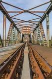Bro Friesenbrucke nästan Weener i Tyskland Arkivfoton