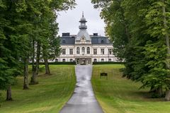 Bro Hof Golf and country club. The castle of Bro Hof which now serves as the clubhouse and restaurant of Bro Hof Golf and country club, located outside Stockholm Royalty Free Stock Image