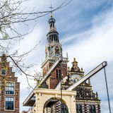Bro i Alkmaar, Nederländerna arkivfoto