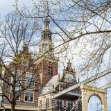 Bro i Alkmaar, Nederländerna royaltyfria foton