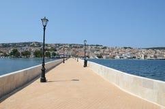 Bro i Argostoli Royaltyfri Fotografi