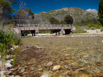 Bro i Bariloche Royaltyfria Foton