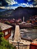 Bro i Bosnien Arkivfoton