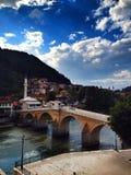 Bro i Bosnien Arkivbilder