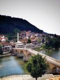 Bro i Bosnien Arkivbild
