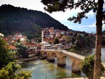 Bro i Bosnien Arkivfoto