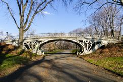 Bro i Central Park, New York Fotografering för Bildbyråer