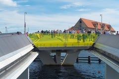 Bro i copenhagen Arkivbild