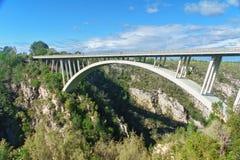 Bro i den Tsitsikamma nationalparken Royaltyfri Fotografi