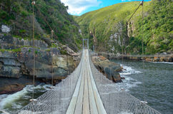 Bro i den Tsitsikamma nationalparken Arkivfoto