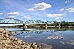 Bro i Fordon Bydgoszcz, Polen arkivfoton