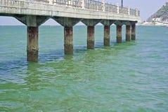 Bro i havet Royaltyfri Foto