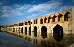 Bro i Isfahan, Iran royaltyfri bild
