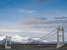 Bro i Jokulsarlon, Island Arkivbild