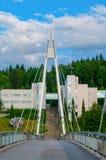 Bro i Jyvaskyla, Finland Arkivfoto