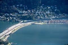 Bro i Lugano Arkivbilder
