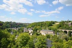 Bro i Luxembourg Arkivfoton