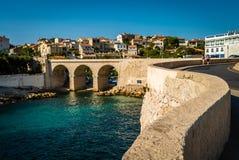 Bro i Marseille Royaltyfri Bild