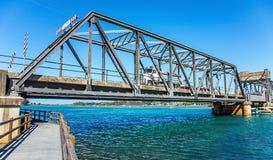 Bro i Narooma Australien arkivbilder