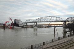 Bro i Nashville, Tennessee Royaltyfri Fotografi