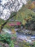 Bro i nedgången Royaltyfria Bilder