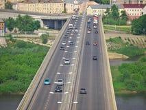 Bro i Nizhny Novgorod Arkivbilder