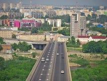 Bro i Nizhny Novgorod Arkivfoto