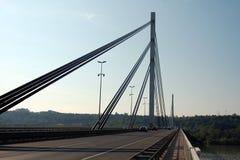 Bro i Novi Sad, Serbien Royaltyfri Bild
