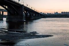 Bro i Novosibirsk Arkivbilder