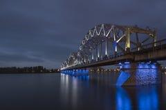 Bro i Riga Arkivfoton