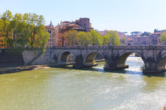 Bro i Rome, Italien Arkivfoto