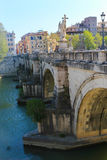 Bro i Rome, Italien Royaltyfria Bilder