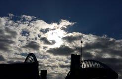 Bro i Seattle, Washington Royaltyfri Fotografi