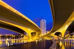 Bro i stad av konster och vetenskaper arkivbilder