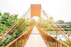 Bro i Vangvieng, Laos Arkivbild