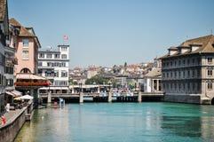 Bro i Zurich arkivfoto