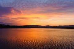 bro ireland över solnedgångtorn Arkivbilder