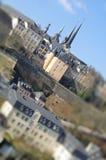 bro luxembourg över floden Royaltyfri Foto
