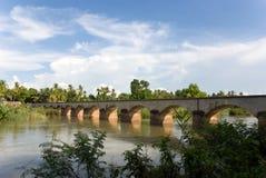 bro mekong över floden Arkivbilder