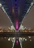 bro moscow över floden Arkivfoton